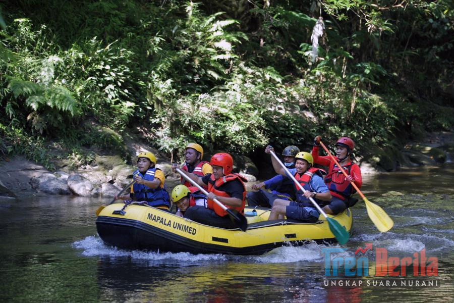 Dinas pariwisata Latih Pemandu Wisata Arung Jeram