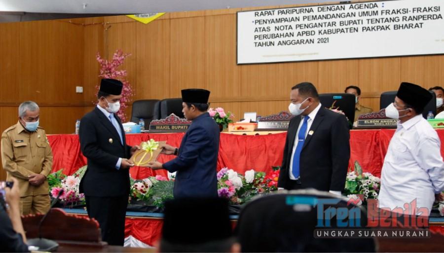 WAKIL BUPATI HADIRI SIDANG PARIPURNA DPRD PAKPAK BHARAT